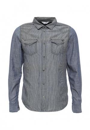 Рубашка джинсовая Diesel. Цвет: синий