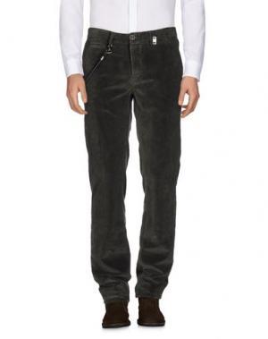 Повседневные брюки TRAMAROSSA. Цвет: темно-зеленый