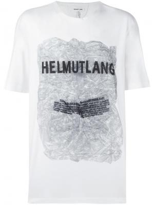 Футболка с принтом логотипа Helmut Lang. Цвет: белый