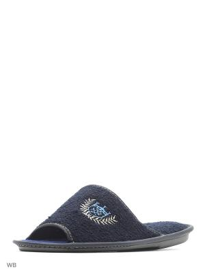 Тапочки PANTOLETTI. Цвет: темно-синий
