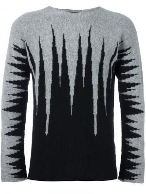 Джемпер с абстрактным узором Tom Rebl. Цвет: серый