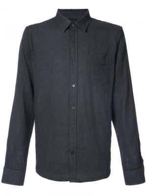 Рубашка с нагрудным карманом Vince. Цвет: серый