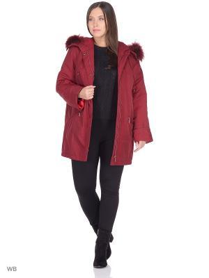 Куртка Марта VIKO. Цвет: темно-бордовый