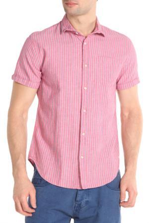 Рубашка Scotch&Soda. Цвет: розовый,голубые полосы
