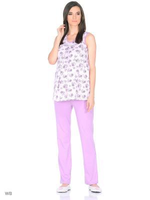 Пижама Nuova Vita. Цвет: лиловый