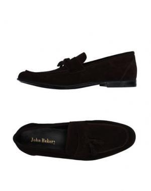 Мокасины JOHN BAKERY. Цвет: темно-коричневый