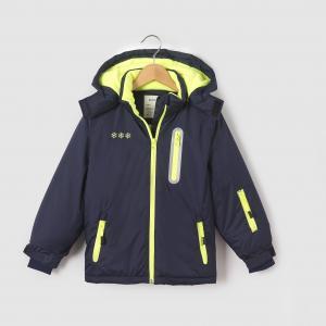 Куртка лыжная с капюшоном, 3-16 лет R essentiel. Цвет: синий морской