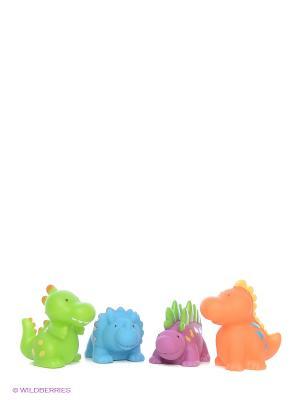 Игрушки для ванны Динозаврики Alex. Цвет: оранжевый