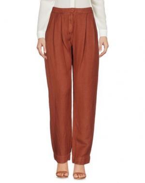 Повседневные брюки IVORIES. Цвет: коричневый