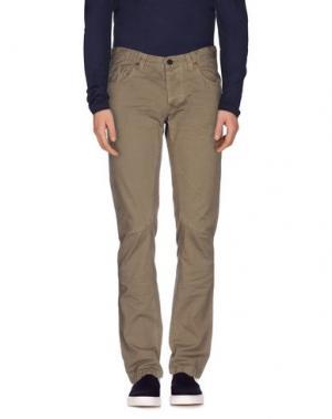 Джинсовые брюки DNM-BRAND. Цвет: хаки