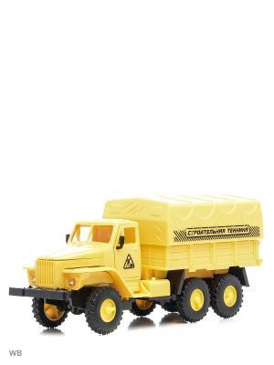 Машина спецтехника грузовик тентованный кузов Drift. Цвет: желтый