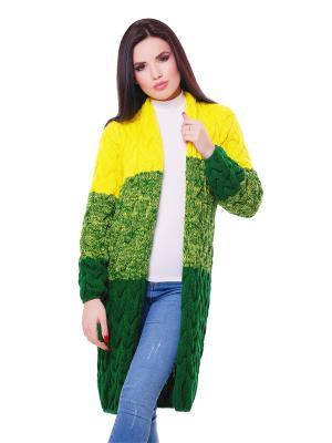 Кардиганы Fashion Up. Цвет: зеленый, желтый
