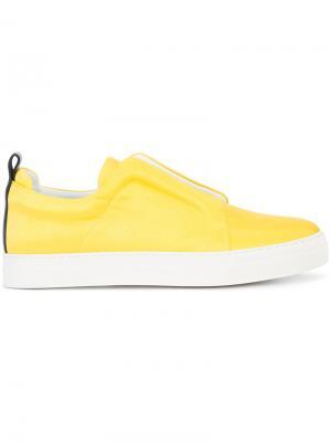 Слипоны Slider Pierre Hardy. Цвет: жёлтый и оранжевый