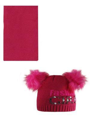 Шапка, шарф Politano. Цвет: малиновый, розовый