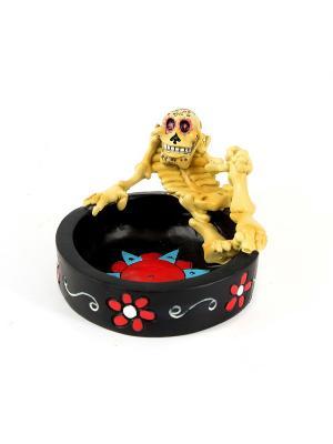 Пепельница Русские подарки. Цвет: черный, красный, светло-желтый