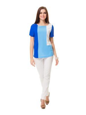 Блузка HELMIDGE. Цвет: голубой, белый, синий