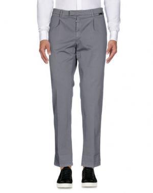 Повседневные брюки GAZZARRINI. Цвет: серый