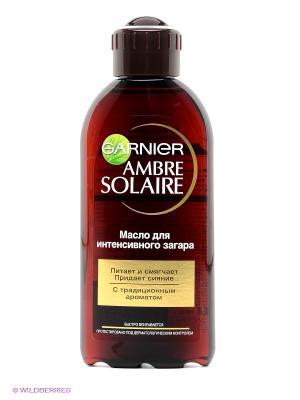 Масло Ambre Solaire, для интенсивного загара с традиционным ароматом, 200 мл Garnier. Цвет: красный