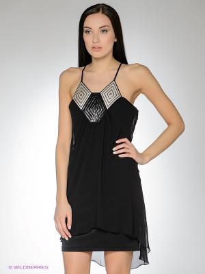 Платье FRENCH HINT. Цвет: черный, серый