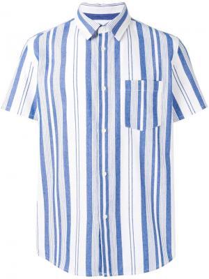 Рубашка в полоску A.P.C.. Цвет: синий