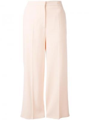 Укороченные брюки Rochas. Цвет: розовый и фиолетовый