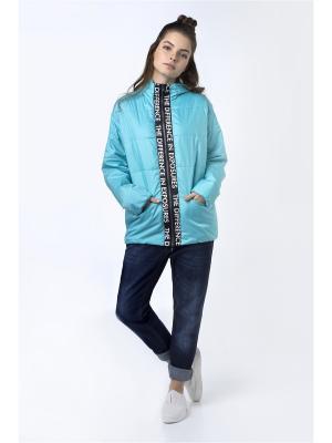 Куртка Sabotage. Цвет: бирюзовый