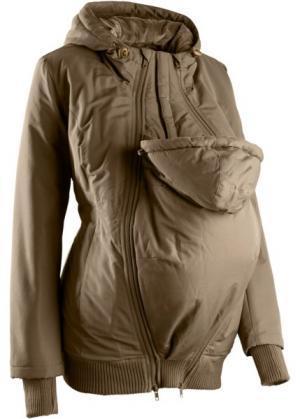 Куртка для беременных с двумя карманами (хаки) bonprix. Цвет: хаки
