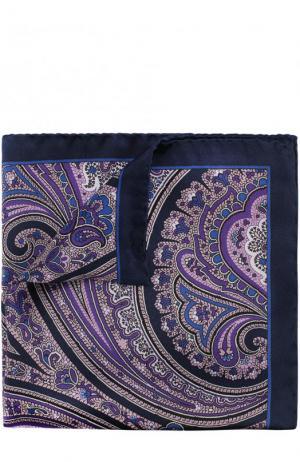 Шелковый платок с узором BOSS. Цвет: фиолетовый