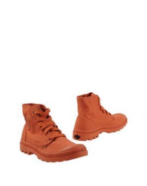 Полусапоги и высокие ботинки PALLADIUM. Цвет: оранжевый