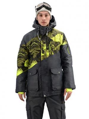 Куртка Stayer. Цвет: антрацитовый, салатовый