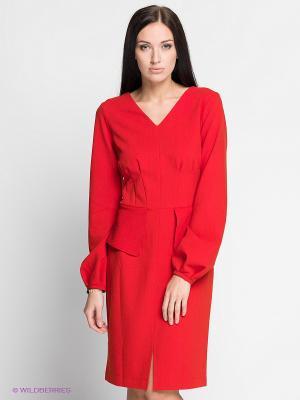 Платье Satin. Цвет: красный