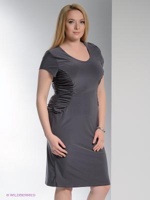 Платье Forus. Цвет: темно-серый
