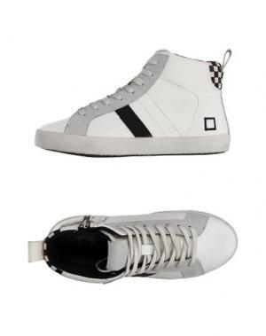 Высокие кеды и кроссовки D.A.T.E. KIDS. Цвет: белый
