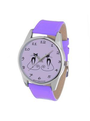 Часы Mitya Veselkov. Цвет: фиолетовый, черный