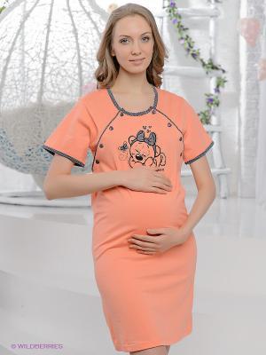 Сорочка Vienetta Secret. Цвет: оранжевый
