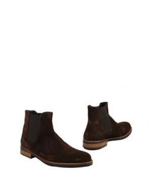 Полусапоги и высокие ботинки THOMPSON. Цвет: темно-коричневый
