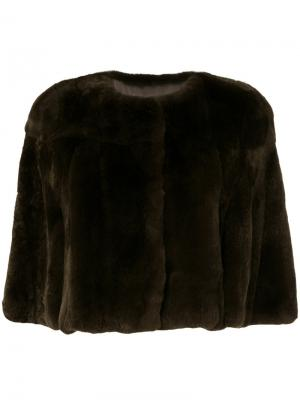 Куртка Four Rex Yves Salomon. Цвет: коричневый