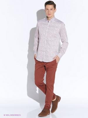 Рубашка MONDIGO. Цвет: розовый, белый