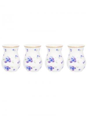 Набор из 4-х вазочек под зубочистки Сиреневый туман Elan Gallery. Цвет: белый, голубой, сиреневый