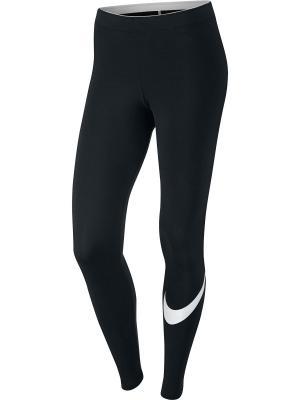 Леггинсы W NSW LGGNG LOGO CLUB Nike. Цвет: черный