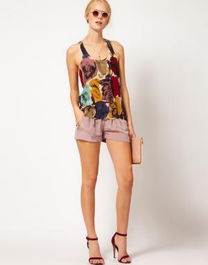 La Fee Verte Шелковые шорты на шнурке. Цвет: светло-лиловый