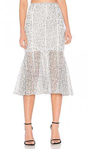 Кружевная юбка tallulah Marissa Webb. Цвет: белый