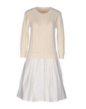 Короткое платье BAND OF OUTSIDERS. Цвет: слоновая кость