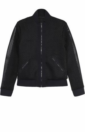 Перфорированная спортивная куртка на молнии Ultracor. Цвет: черный