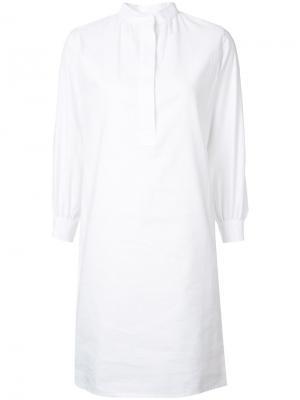 Платье-рубашка с воротником-стойкой Atlantique Ascoli. Цвет: белый