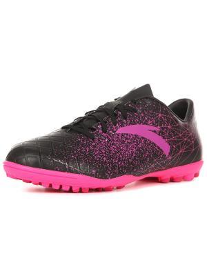 Бутсы, ANTA. Цвет: черный, розовый, фиолетовый