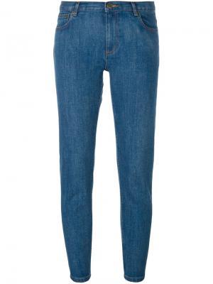 Укороченные джинсы A.P.C.. Цвет: синий