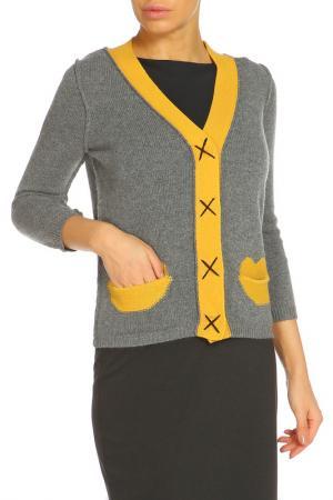 Кардиган ZHOR&NEMA. Цвет: серый, желтый