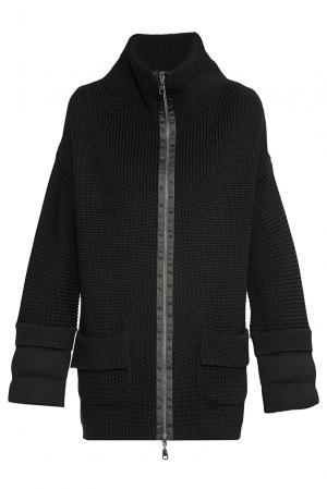 Трикотажное пальто из шерсти 172354 Baroni. Цвет: черный