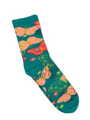 Носки BROSS. Цвет: зеленый